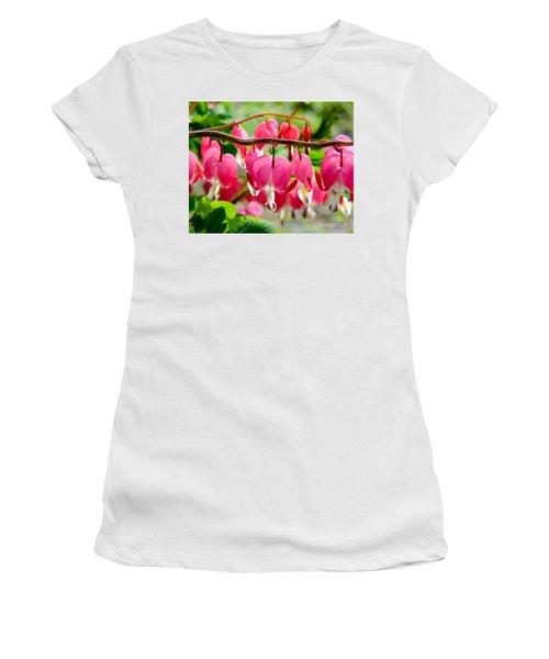 Bleeding Heart Flowers Women's T-Shirt