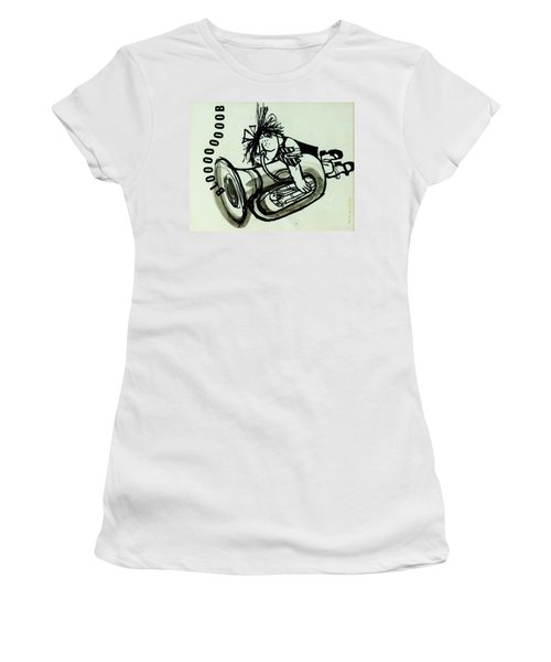 Blooooob! Ink On Paper Women's T-Shirt (Athletic Fit)