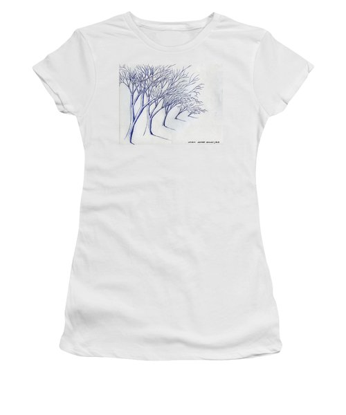 Blowing Trees Women's T-Shirt (Athletic Fit)