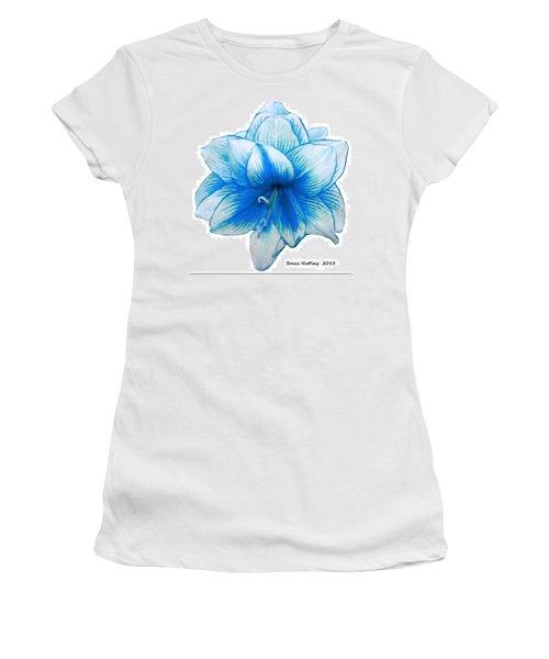 Blue Amaryllis Women's T-Shirt