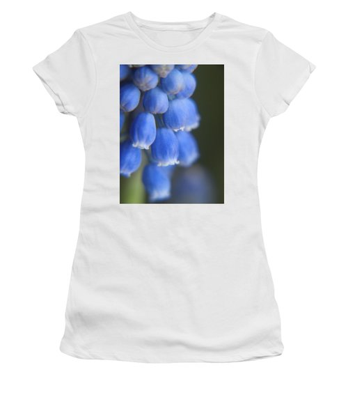 Blue Blossoms Women's T-Shirt (Athletic Fit)