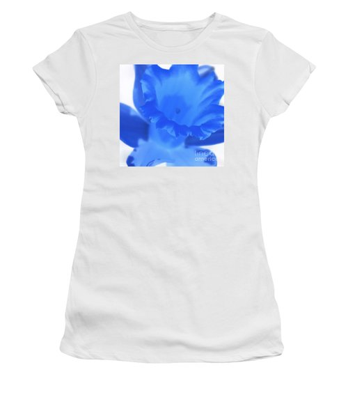 Women's T-Shirt (Junior Cut) featuring the photograph Blue Daffodil by Andy Prendy