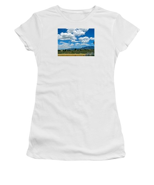 Blue Mountain Skies Women's T-Shirt (Athletic Fit)