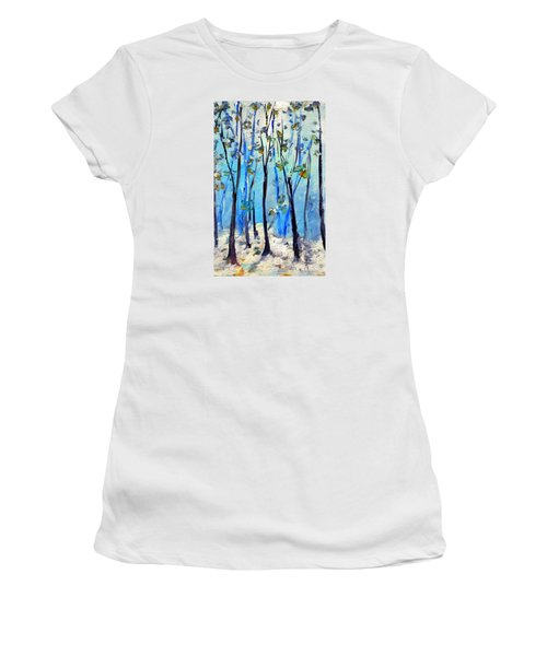 Blue Thoughts In Winter Women's T-Shirt (Athletic Fit)