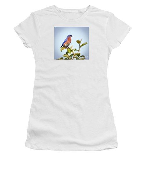 Bluebird On Top Women's T-Shirt (Junior Cut) by Kerri Farley