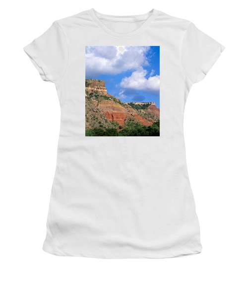 Bluffs In The Glass Mountains Women's T-Shirt (Athletic Fit)