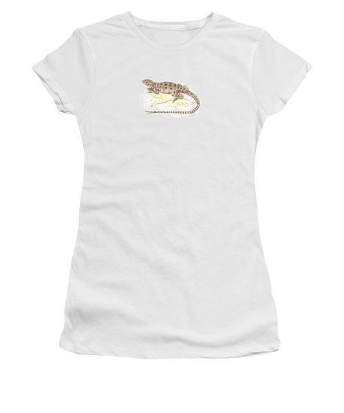 Blunt-nosed Leopard Lizard  Women's T-Shirt (Junior Cut) by Cindy Hitchcock