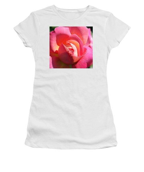 Blushing Rose Women's T-Shirt (Athletic Fit)