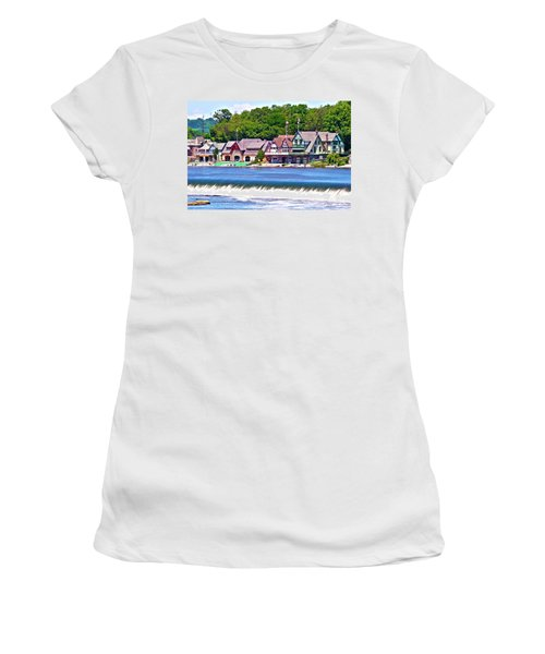 Boathouse Row - Hdr Women's T-Shirt (Athletic Fit)