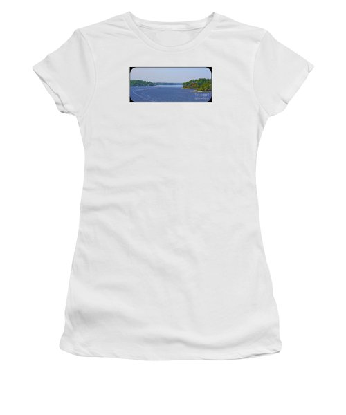 Women's T-Shirt (Junior Cut) featuring the photograph Boating On The Severn River by Patti Whitten
