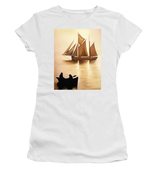 Boats In Sun Light Women's T-Shirt