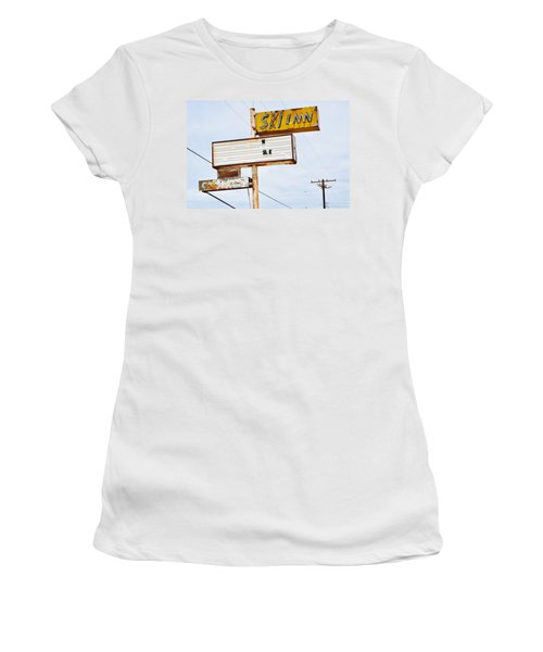 Bombay Beach Abandoned Ski Inn Women's T-Shirt