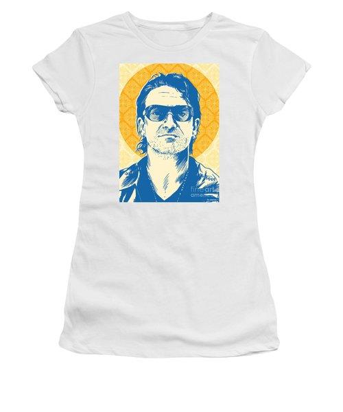 Bono Pop Art Women's T-Shirt (Athletic Fit)