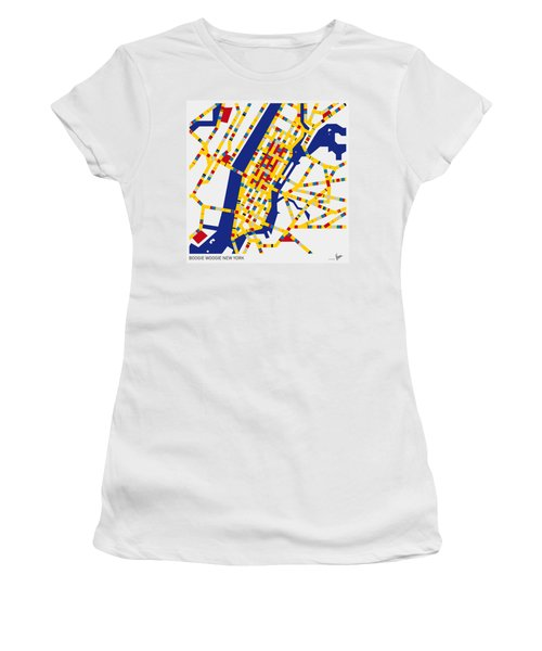Boogie Woogie New York Women's T-Shirt (Athletic Fit)
