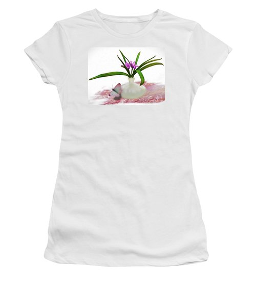 Bouque In Digital Watercolor Women's T-Shirt (Athletic Fit)