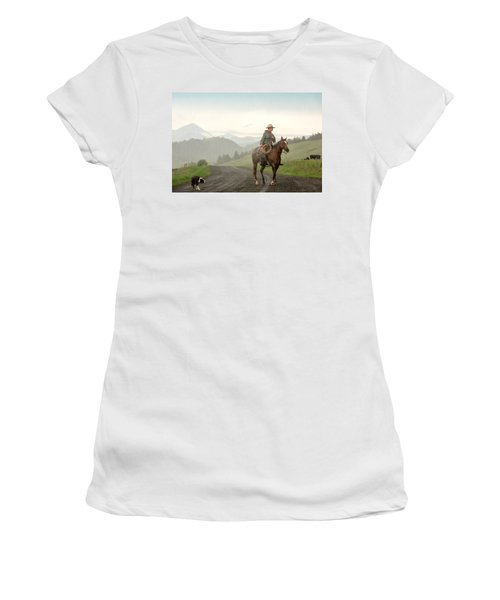 Braving The Rain Women's T-Shirt