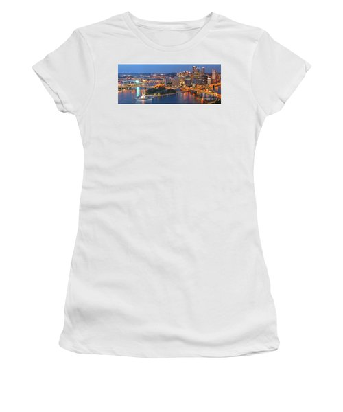 Bridge To The Pittsburgh Skyline Women's T-Shirt (Athletic Fit)