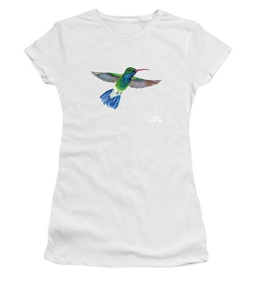 Broadbilled Fan Tail Hummingbird Women's T-Shirt