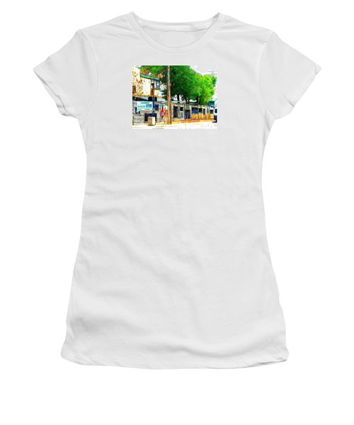 Broadway Oyster Bar With A Boost Women's T-Shirt (Athletic Fit)