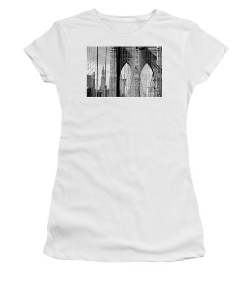 Brooklyn Bridge New York City Usa Women's T-Shirt (Athletic Fit)