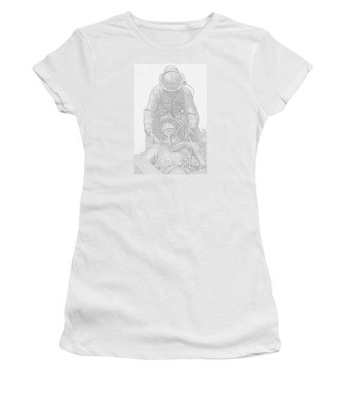 Brothers Women's T-Shirt (Junior Cut) by Susan  McMenamin