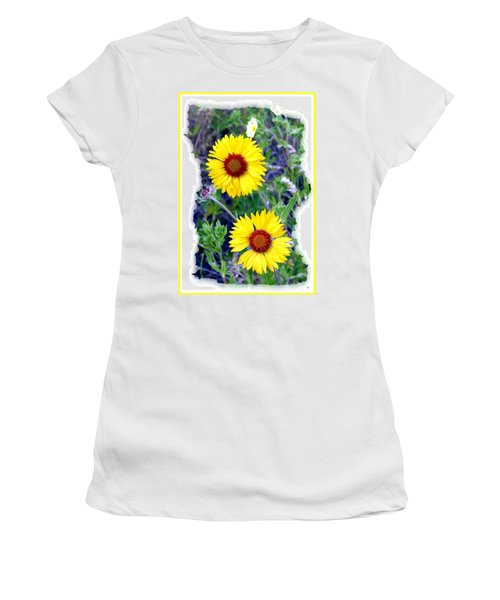 Brown- Eyed Susans Women's T-Shirt (Athletic Fit)