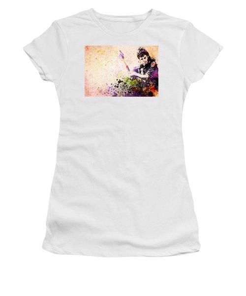 Bruce Springsteen Splats 2 Women's T-Shirt (Athletic Fit)