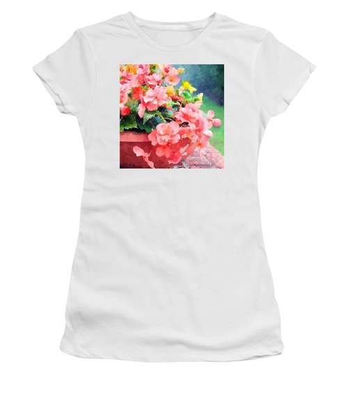 Bucket O Begonias Women's T-Shirt (Athletic Fit)