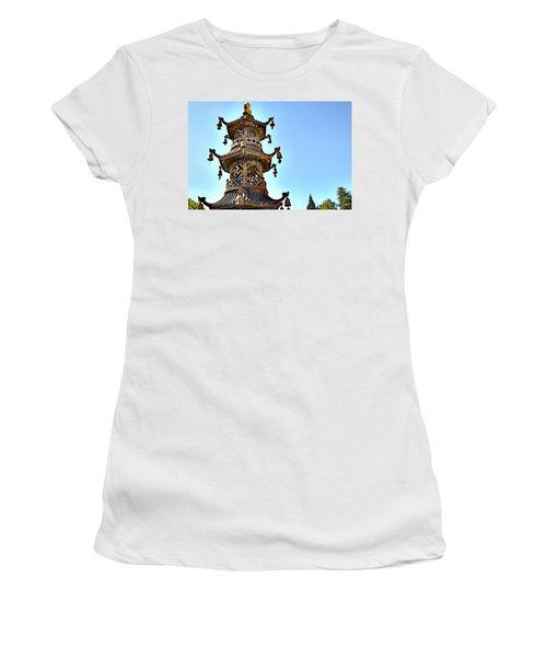 Buddhist Bells Women's T-Shirt (Athletic Fit)