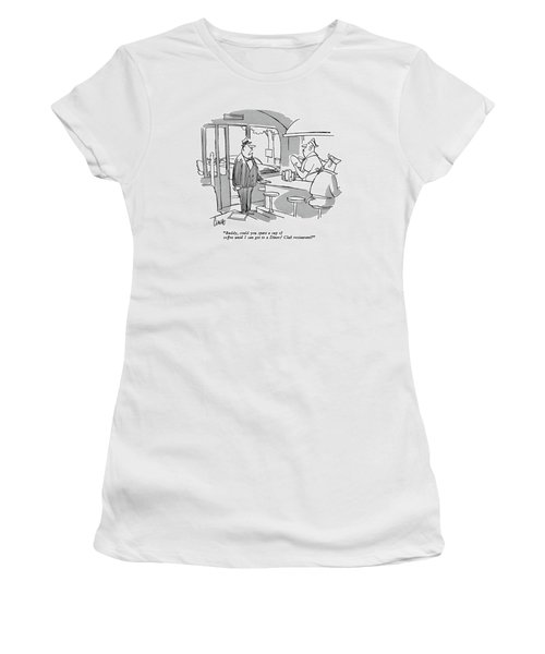 Buddy, Could You Spare A Cup Of Coffee Women's T-Shirt