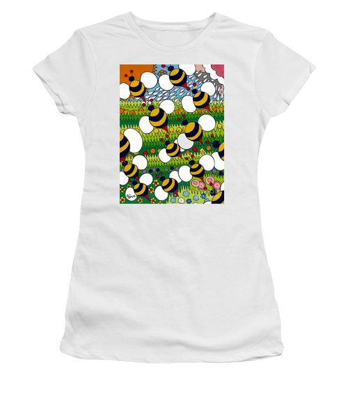 Bumble Women's T-Shirt (Junior Cut) by Rojax Art