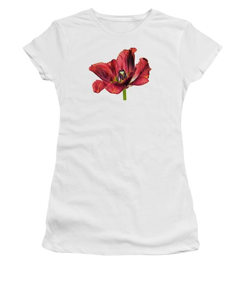 Burning Tulip Women's T-Shirt (Athletic Fit)