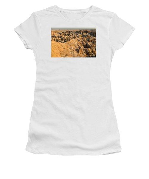 Burns Basin Overlook Badlands National Park Women's T-Shirt (Athletic Fit)