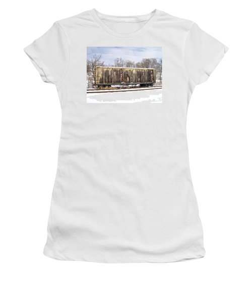 Women's T-Shirt (Junior Cut) featuring the photograph Burnt by Sara  Raber