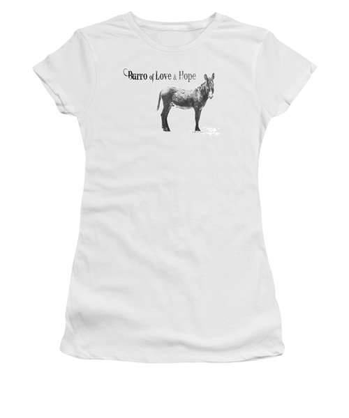 Burro Of Love And Hope Women's T-Shirt (Athletic Fit)