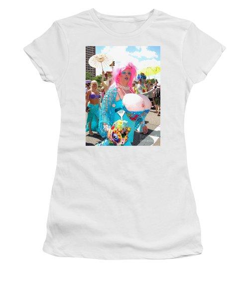 Women's T-Shirt (Junior Cut) featuring the photograph Busty Mermaid by Ed Weidman