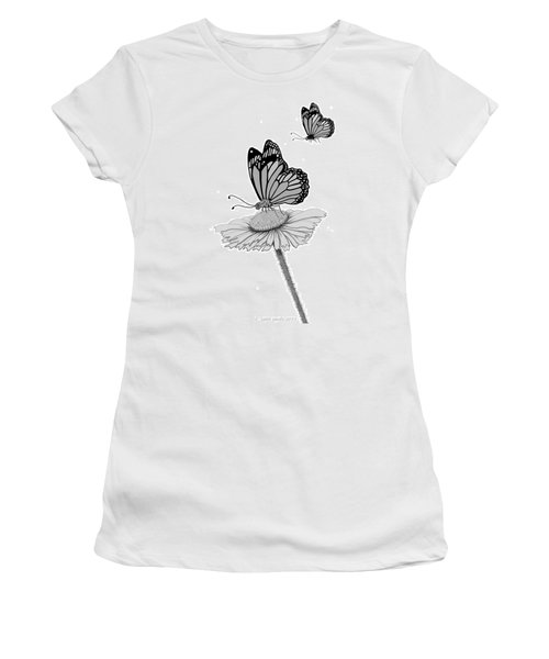 Women's T-Shirt (Junior Cut) featuring the digital art Butterfly Friends by Carol Jacobs