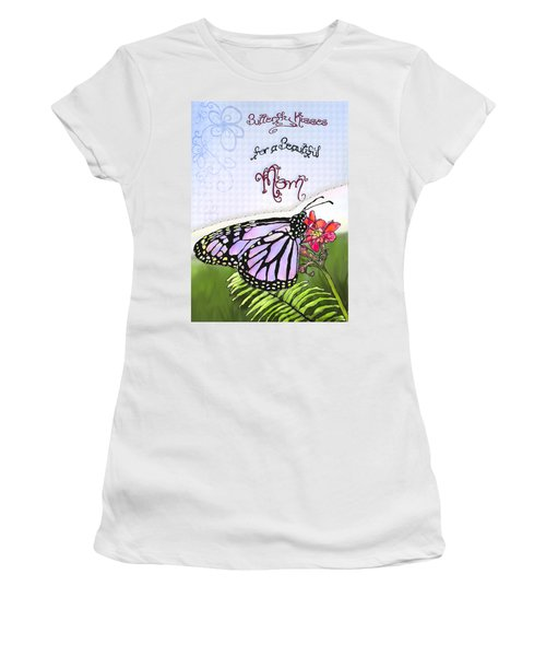Butterfly Kisses Women's T-Shirt (Athletic Fit)