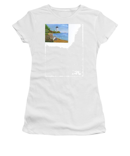 By The Shore Women's T-Shirt (Junior Cut) by Catherine Swerediuk