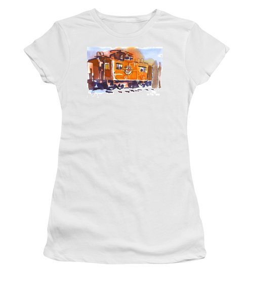 Caboose In Snow And Ice Women's T-Shirt