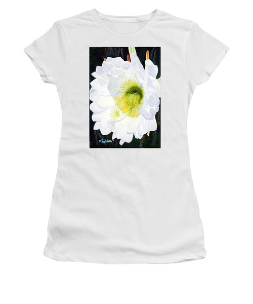 Cactus Flower II Women's T-Shirt (Junior Cut) by Mike Robles