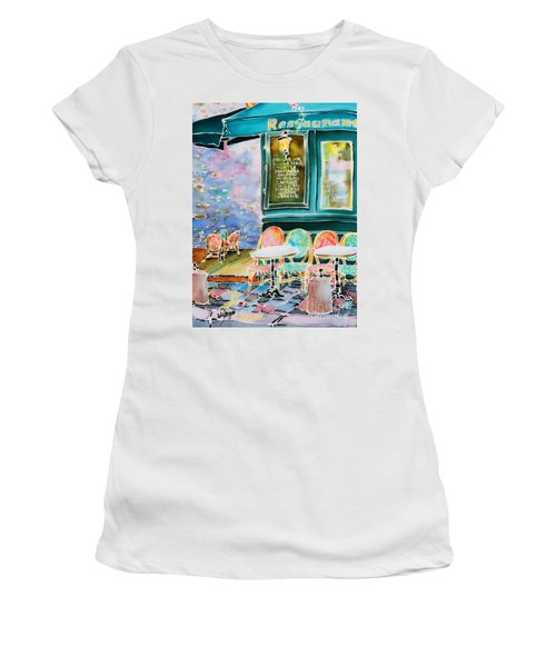 Cafe In Montmartre Women's T-Shirt