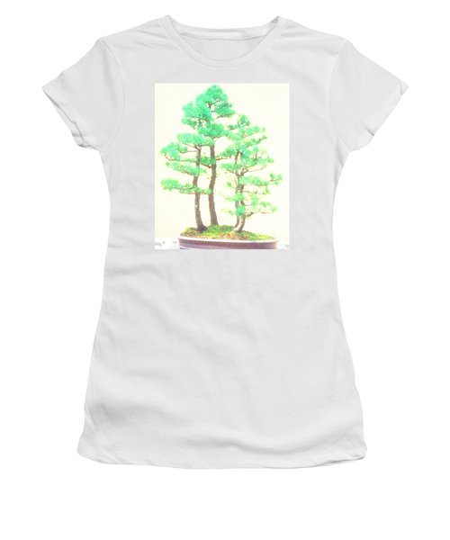 Caitlin Elm Bonsai Tree Women's T-Shirt (Junior Cut) by Marian Cates