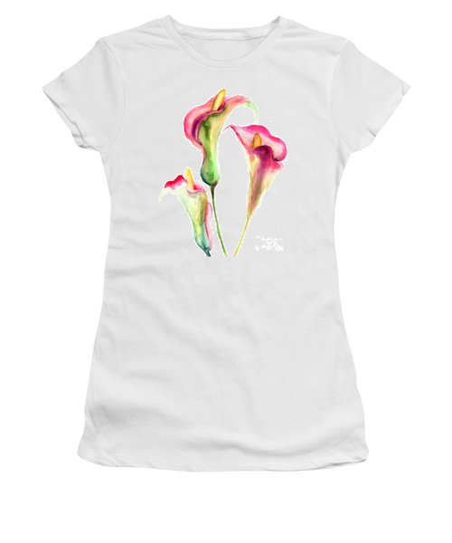 Calla Lily Flowers Women's T-Shirt (Athletic Fit)