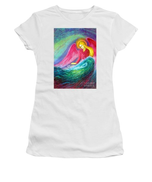Calming Angel Women's T-Shirt (Athletic Fit)