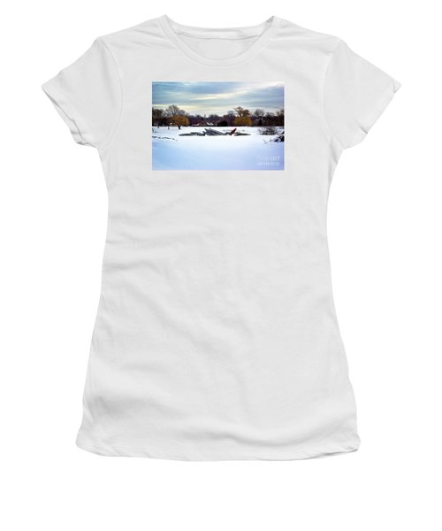 Canoes In The Snow Women's T-Shirt