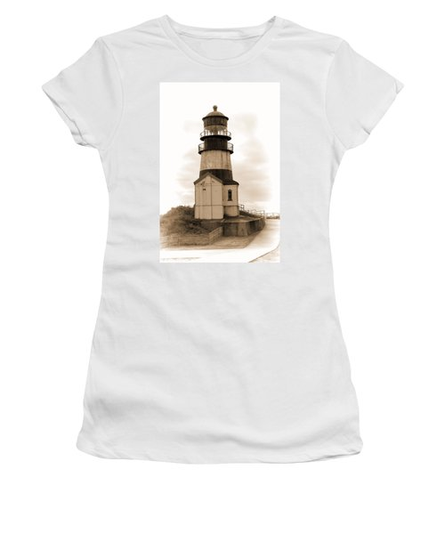 Cape Disappointment Lighthouse Women's T-Shirt (Athletic Fit)
