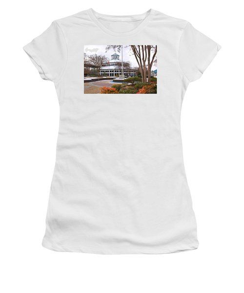 Carousel Building In Snow Women's T-Shirt