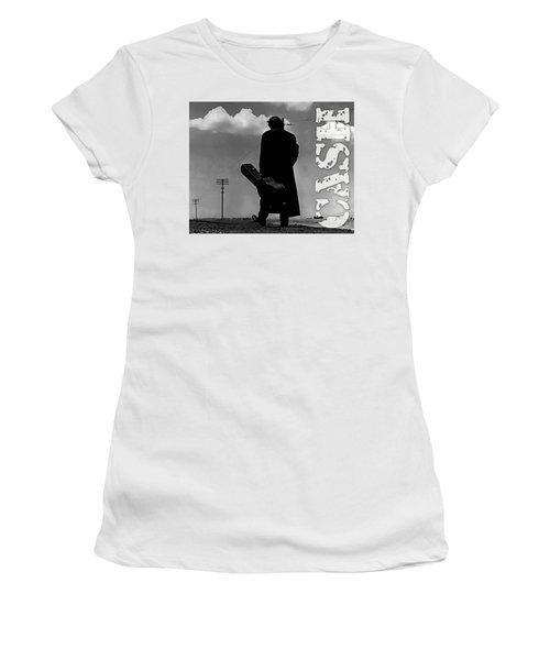 Johnny Cash Women's T-Shirt (Junior Cut) by Marvin Blaine
