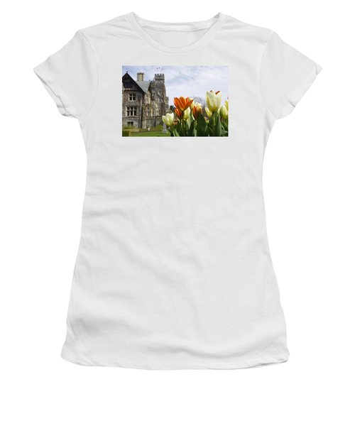 Castle Tulips Women's T-Shirt (Athletic Fit)
